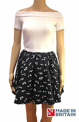 LADIES MUSIC NOTE ROCK AND ROLL with net SKIRT FANCY DRESS COSTUME 50s grease