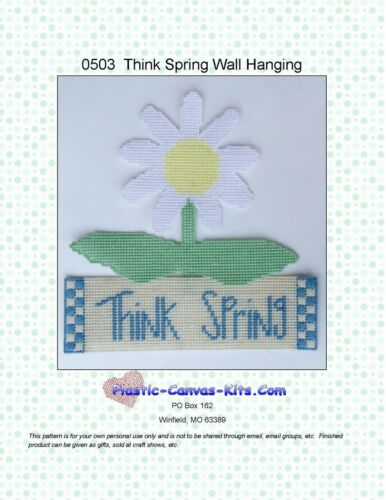 Think Spring Wall Hanging-Flowerr-Plastic Canvas Pattern or Kit