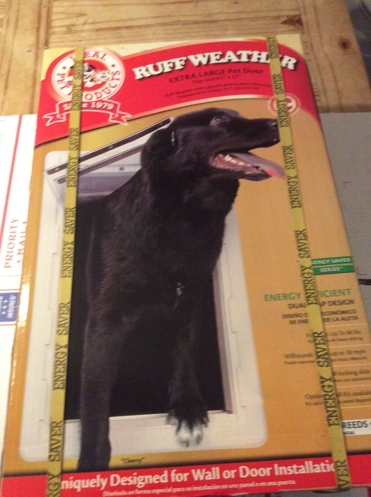 New Ideal Pet Products Extra Large Ruff-Weather  All Climate  Dual Flap Pet Door