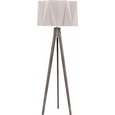 Lampadaire trois pieds bois gris h140cm E27 SCANDINAVES DESIGN Lampadaire