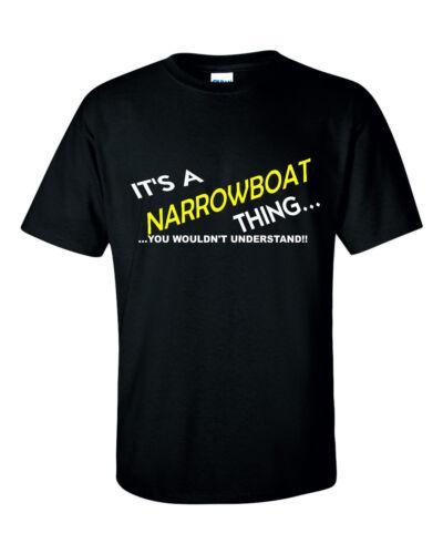 Narrowboat IT/'S A NARROWBOAT THING  FISHING T SHIRT COTTON BLEND GILDEN