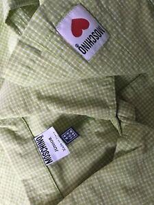 In Moschino Junior taglia Nwot giacca Made Italy 44 Camicia wEgXvx
