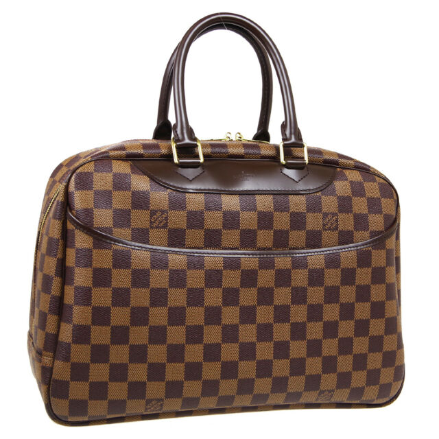 LOUIS VUITTON DEAUVILLE BUSINESS HAND BAG MB0035 PURSE DAMIER EBENE N47272 36261