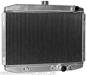 """Ford Mustang Radiator Alloy 55mm 2 Core V8 1967 1968 1969 1970 24"""" 5.0 302 351c"""
