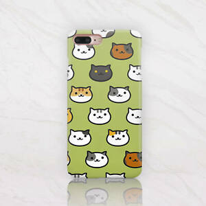 innovative design e58b6 192ee Details about Neko Atsume Cat iPhone 8 Case Kitten iPhone X Case Plastic  iPhone 7 6s 5c Case