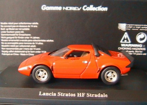 LANCIA STRATOS HF HF HF STRADALE 1973 NOREV 785051 1 43 orange ITALIA ITALIE f9b04e