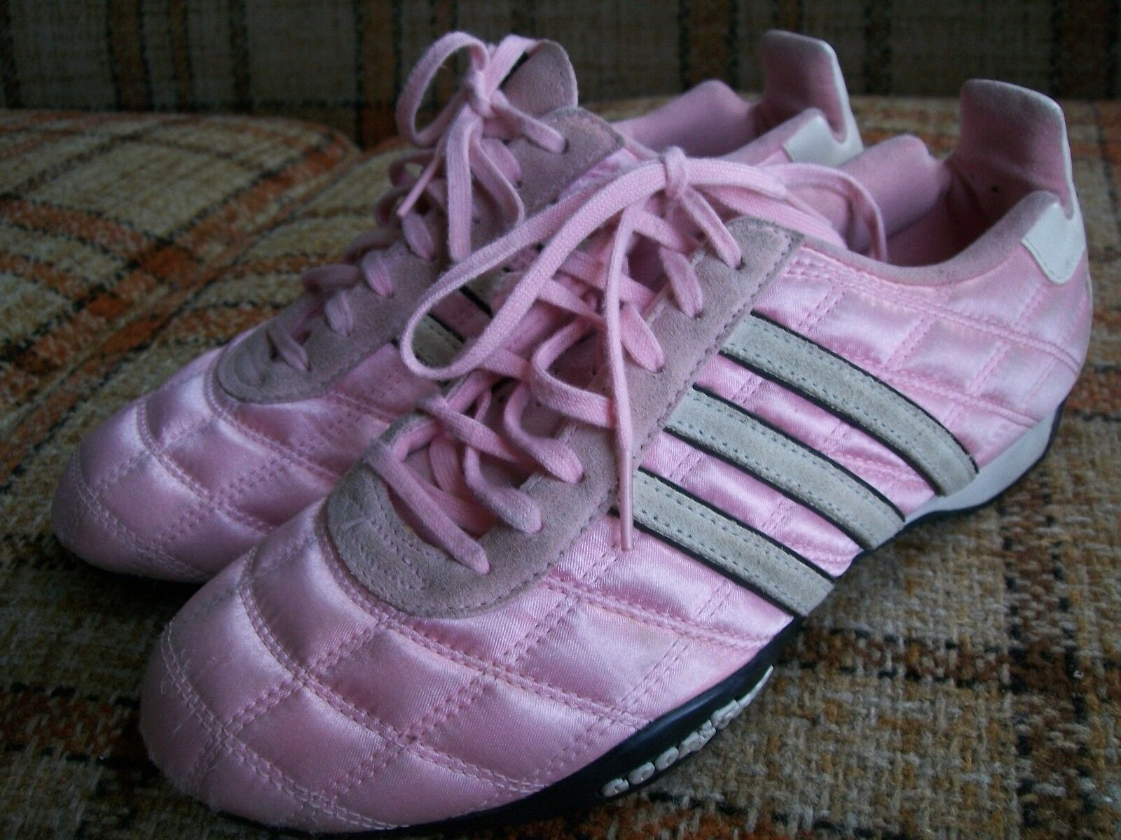 Adidas Womens Size 7 (FR 38 2 3) Tuscany Goodyear Pink Quilted Driving 104003