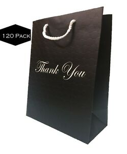 Details About Black Gift Bags With Handles Bulk Large Premium Paper Thank You 10x13 120