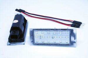2x-LED-LICENSE-NUMBER-PLATE-LIGHT-RENAULT-MEGANE-2-II-3D-5D-PHASE-I-CANBUS