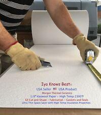 "Ceramic Fiber Paper Kaowool500 Grade 2300F Thermal Insulation 1/8"" x 12"" x 24"""