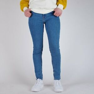 Levi-s-721-Vintage-High-Rise-Skinny-New-Orange-Tab-Blau-Damen-Jeans-31-30