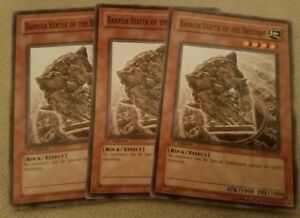3x (M/NM) Barrier Statue of the Drought CDIP-EN022 Common 1st Edition YuGiOh