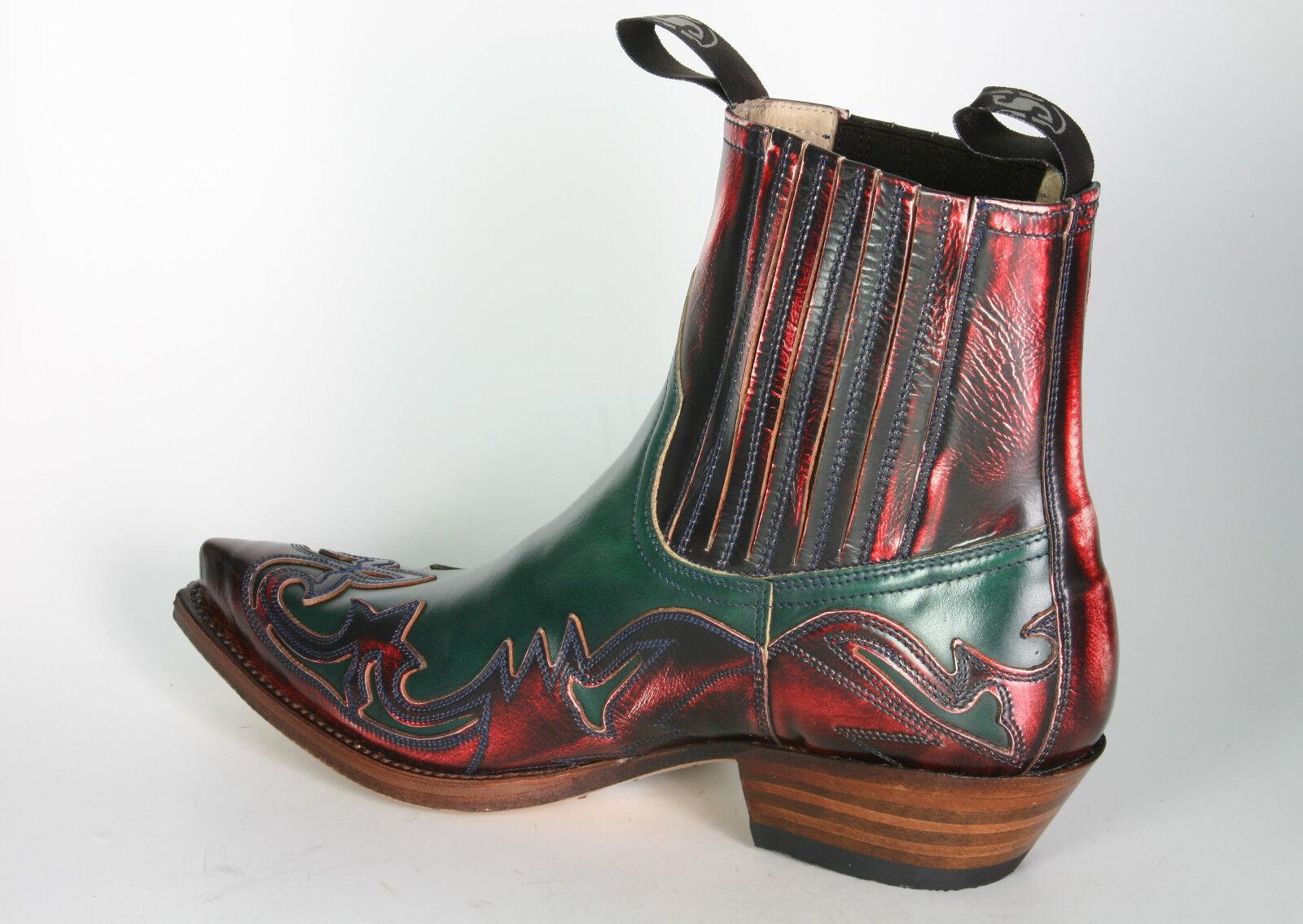 4660 Sendra Stiefeletten Denver Rojo Flor. Verde Cowboystiefel Cowboystiefel Cowboystiefel 1043d7