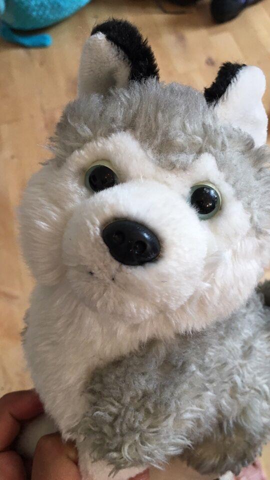 Husky hund 22 cm høj, Husky