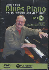 Aprender A Tocar Piano De Blues Dvd 3 Boogie Woogie Slow Blues matriculación Dvd