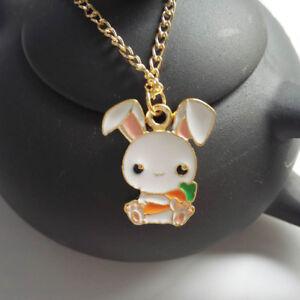Cute-1-Piece-Rabbit-Carrot-Cartoon-Gift-Fashion-Jewelry-Enamel-Necklace-Pendant