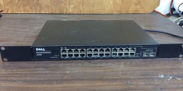 Dell powerconnect 2724 Gb 24 Ports Network Switch Rack Ears