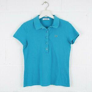 Vintage-LACOSTE-Blue-Button-Polo-Shirt-Size-Women-039-s-Small-R4202