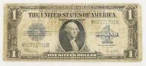 1923-Un-Dollar-George-Washington-Argent-avec-Certificat