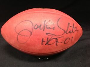 Los Angeles Rams Jackie Slater signed Official NFL Football PSA\DNA COA #4A36397