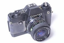 CONTAX, 'YASHICA' 137 MD QUARTZ SLR 35MM CAMERA. W/ SUN 28MM LENS.