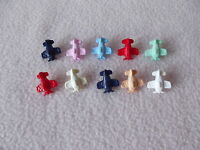 10 x COLOURED AEROPLANE SHAPED BUTTONS ~ size approx 15mm x 15mm ~ BABIES/CRAFT