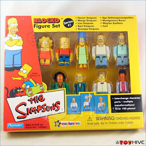 Simpsons-Blocko-9-figure-set-series-1-Toys-R-Us-Exclusive-made-by-Playmates