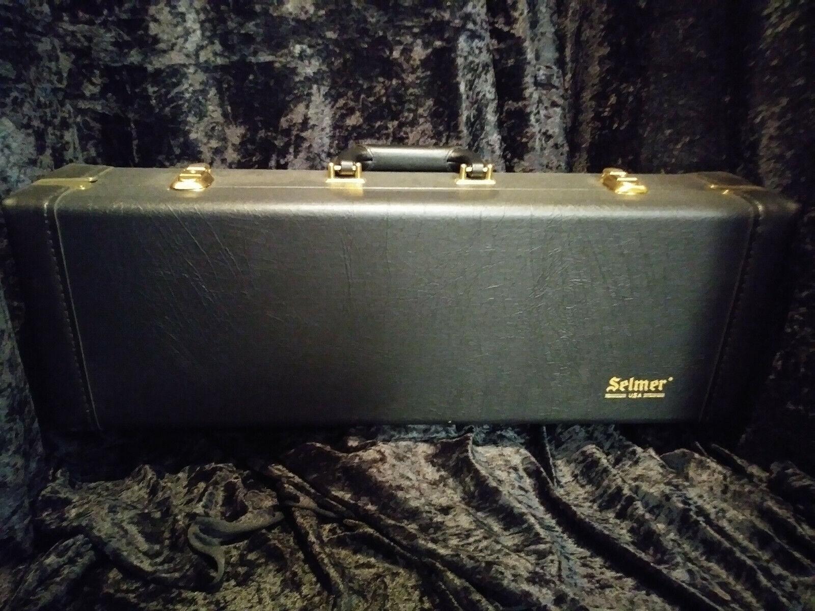 Selmer Deluxe Straight Soprano Saxophone Case schwarz With Gold Hardware