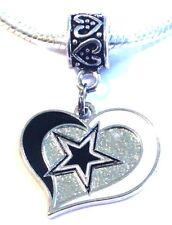 Dallas Cowboys Dangle Pendant Charm for European Charm Bracelet or Necklace
