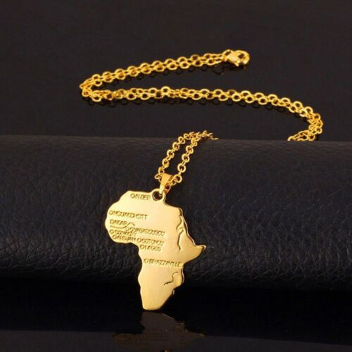Fashion Africa Map Silver Gold Plated Necklace African Country Pendant Chain
