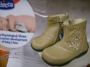 e041d1a8e2bb29 Scarpe primipassi stivali bambina CHICCO N. 23 Euro 62 beige pelle ...