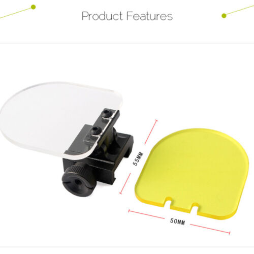55 Series Round Foldable Protective Lens 20mm Base Holographic Aiming Bezel