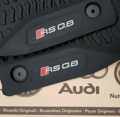 detrás de goma tapices Audi q8 original rsq8 tapices 4 alfombrillas de goma en la parte delantera