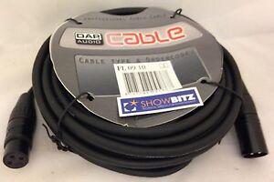 10-m-3-broches-XLR-DMX-cable-numerique-eclairage-de-scene-theatre-DAP-FL0910-Haute-Qualite