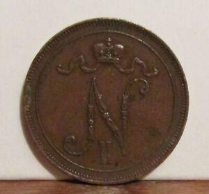 1908 Finlande 10 Pennia Coin-afficher Le Titre D'origine Pour RéDuire Le Poids Corporel Et Prolonger La Vie