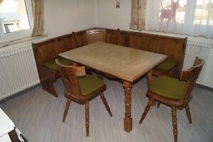 Rustikales Esszimmer Eckbank Esstisch Zwei Stuhle Ebay