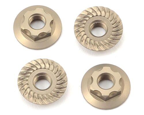 Yokomo 4mm Thin Aluminum Serrated Flanged Nut YOKZC-N4FLT 4