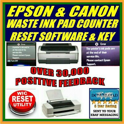 EMAIL DELIVERY Reset Waste Ink Pad EPSON WORKFORCE WF-645