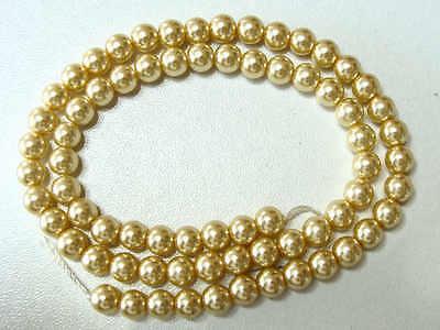 50 perles verre peint aspect nacré 8mm rondes BLEU DIY création bijoux