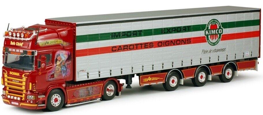 TEK62972 - Camion 4x2 SCANIA R Topline 4x2 avec remorque 3 essieux Tautliner aux