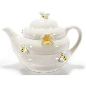Theiere-en-ceramique-decoree-par-abeilles-et-fleurs-style-Miel