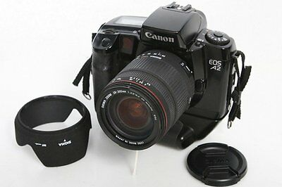 Canon A2 35mm SLR Camera With Sigma 28-300mm f3.5-6.3 Lens And Verttical Grip