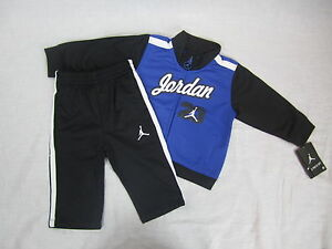 2357a79f44 NWT Infant Boy's 2-Piece Tricot Nike Jordan Tracksuit Set Blue 6/9M ...