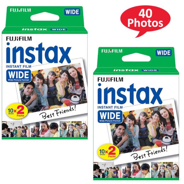 FujiFilm Instax Wide Film 40 Sheets Fuji 200 210 300 Instant Photos AU