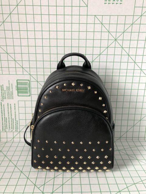 7f791f8e66424 ... greece michael kors abbey medium studded leather backpack school bag  black 7fdad 38c07