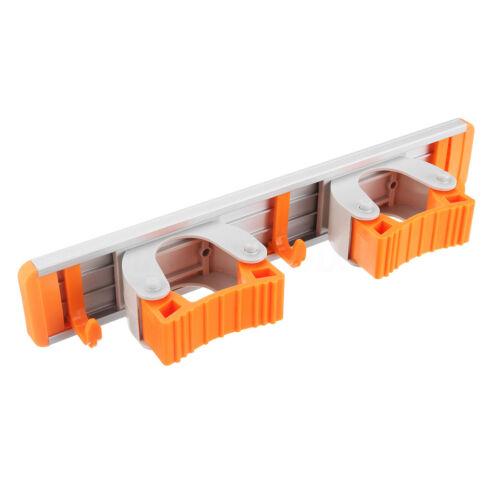 Mop Holder Hanger 4 Position Home Kitchen Storage Broom Organizer Wall Mount