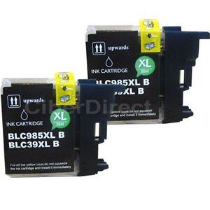 2 Compatible Brother Lc985 Xl Imprimante Noir Cartouches D'encre. Facture De Tva.-afficher Le Titre D'origine