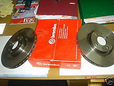 Marea 2.0 20v Front Rear Drilled Grooved Brake Discs