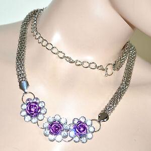 100% di alta qualità sono diversamente raccogliere Cintura donna gioiello strass metallo argento cristalli ...