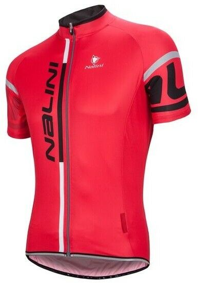 Nalini SS JERSEY logo summer RED- Last Season NEW, AUTHENTIC NALINI SALE RRP
